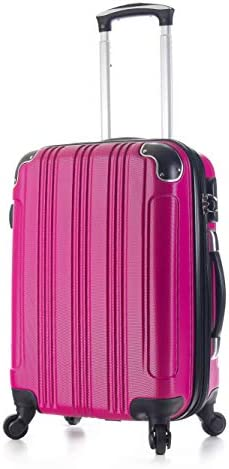 20 Carry on Luggage Travel Luggage Lightweight Rolling Spinner Hard Shell Black Grey Purple Pink Blue Gold Pink