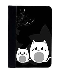 Case Fun Apple iPad Air (i9500) Faux Leather Wallet Case - Black Cat