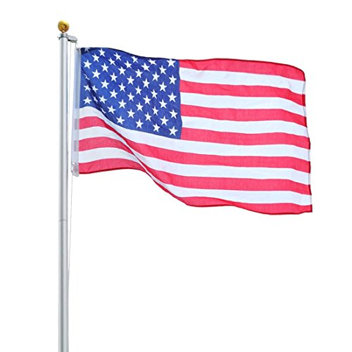 20Ft Sectional Flag Pole Kit 3'x5' US Flag+Aluminum Pole+Screwdriver Fly 2 - Norman Ok In Stores