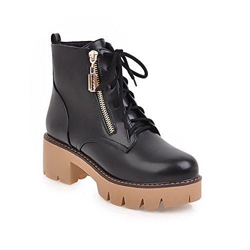 la para 1TO9 tacón Negro Hechas Mano Impermeables Ajustables MNS02616 Botas a Alto Moda a Desconocido Mujer d7tqq