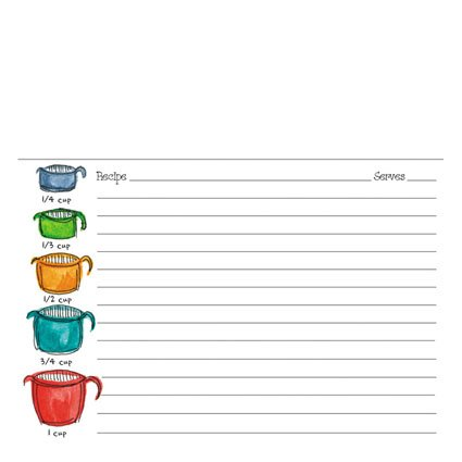 Gina B. Designs Recipe Cards - Measuring Cups by Gina B. -