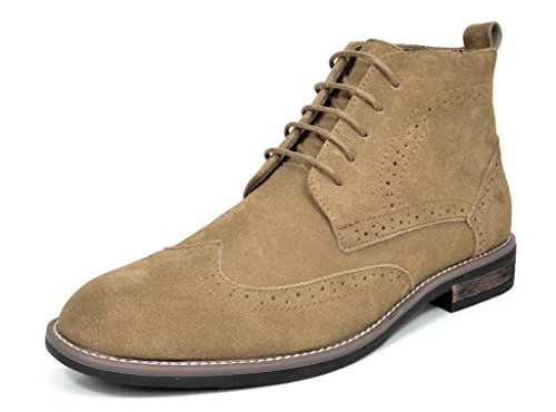 Bruno Marc Men's URBAN-02 Tan Suede Leather Lace Up Oxfords Desert Boots Size 7.5 M US