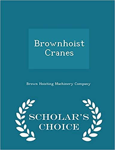Book Brownhoist Cranes - Scholar's Choice Edition