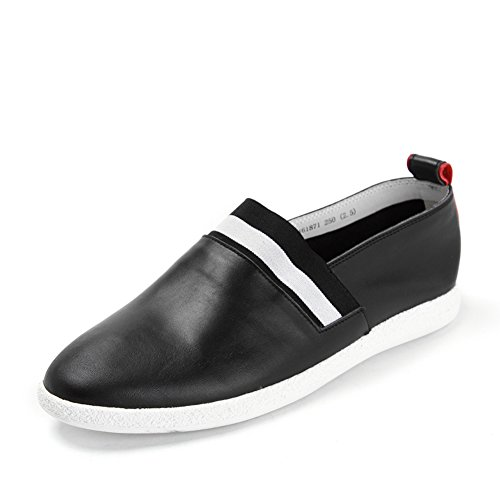 Verano pie pedal ovalada/Zapatos Flats Negro