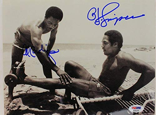 OJ SIMPSON AL AC COWLINGS Bills 49ers Autograph 8x10 Beach Photo ()