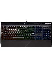 لوحة مفاتيح كورسير للالعاب K55 بالفضاء اللوني ار جي بي باضاءة خلفية - اسود