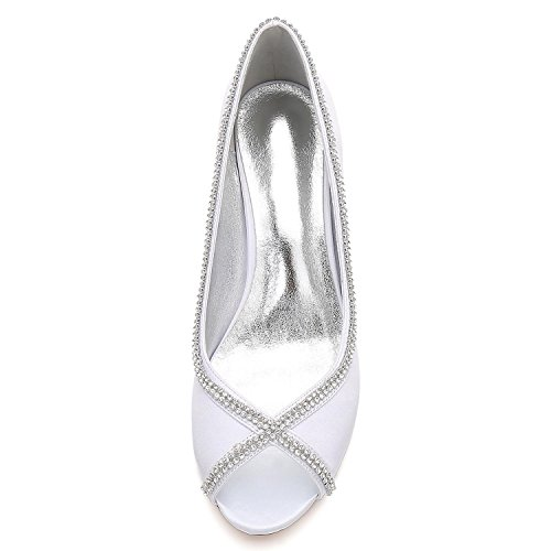 por Summer Boda Diamantes Encargo Encaje Mujeres yc Las De Black Costura Prom Peep Toe Zapatos L npxPOq