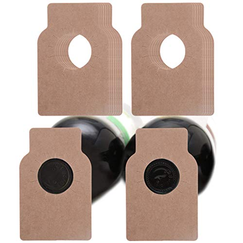 200 Count Wine Bottle Tags Wine Cellar Labels for Wine Racks and Cellars (Primary color kraft paper, kraft paper) ()