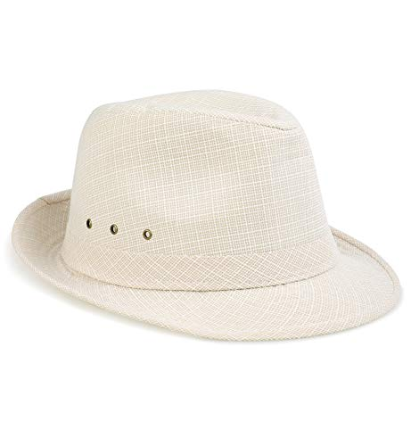 (Sumolux Mens Fedora Hat Hat Band Light Weight Panama Cap Summer Autumn Sun Hat)