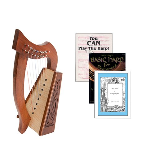 Homeschool Music Lily Harp w/Introduction to Harp Book Bundle + Small Tunes For Young Harpists by Homeschooling Harps