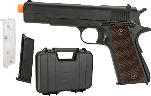 Evike SRC Metal SR-1911 M1911 Airsoft Green Gas Blow Back Pistol Package