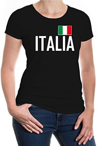 Italien L/ändershirt EM//WM Trikot S-XXL Fanshirt-Damen Italia