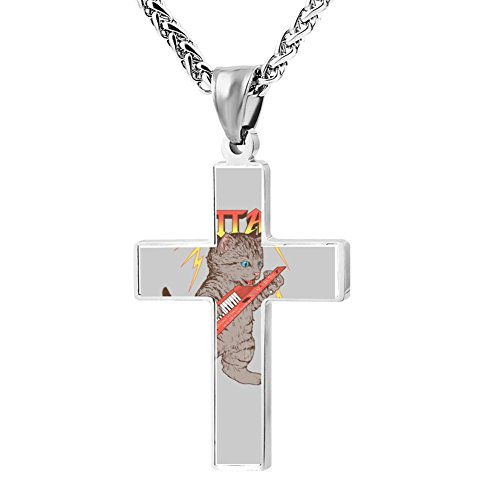 Kenlove87 Patriotic Cross Keytar Religious Lord'S Zinc Jewelry Pendant Necklace -