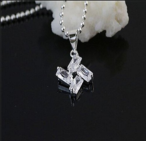 1pc Women Jewelry 925 Sterling Silver Windmill Crystal Pendants Necklace CQ0M