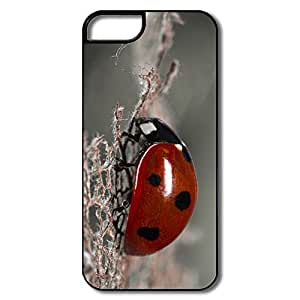 PTCY IPhone 5/5s Customize Cool Red Ladybug Macro