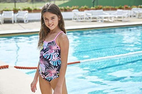 Zoggs Girl's Palms Star Back Swimsuit: Amazon.co.uk: Sports