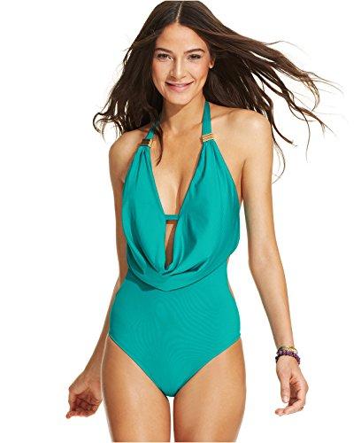 UPC 726419507571, Bar III Draped Monokini One-piece Swim Jade X-small