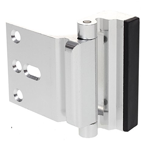 Door Reinforcement Lock - Baby Child Proof - Privacy Door Latch - High Resistance Stop - Easy to Install - Free Phillips Screwdriver - Aluminum Construction (Satin Nickel Anodized (Privacy Latch)