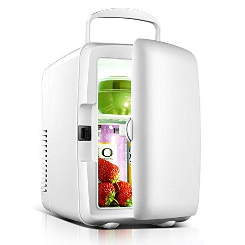 Family in Mini Nevera,Coche portátil Nevera minibar, refrigerador&Warmer 4L 6 latas de 220v y 12V de alimentación para…