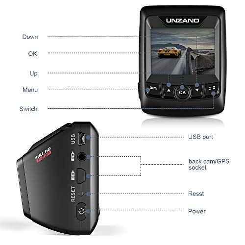 41SImMEPbgL - Dash Cam FHD 1080P Car DVR with WiFi and 6-Lane 170° Wide Angle Lens, Dashboard Camera Recorder with WDR, Loop Recording, G-Sensor Include 16GB Memory Card