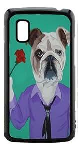 HeartCase Hard Case for Google Nexus 4 LG E960 ( Bulldog Dog )