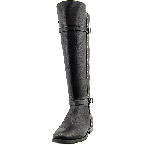 INC International Concepts Womens Ameliee (wide Calf) Wide Calf Closed Toe Leather Riding Boots, Black, Size 7.5