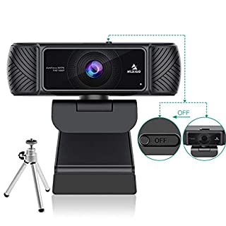2020 Business Streaming 1080P Webcam with Microphone, Built-in Privacy Cover and Tripod, NexiGo USB Web Camera, for Online Class, Zoom Meeting Skype Facetime Teams, PC Mac Laptop Desktop
