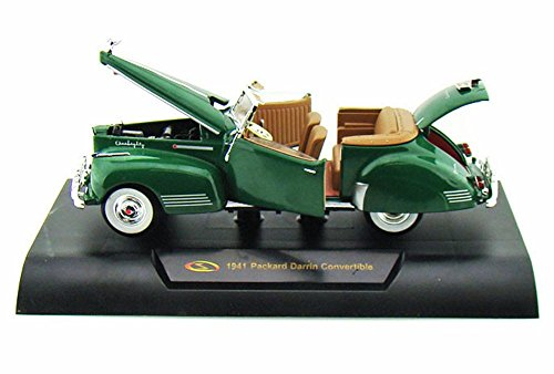 Signature Models 1941 Packard Darrin Convertible, Green 32398 - 1/32 Scale Diecast Model Toy Car ()