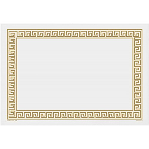Gold Greek Key Paper Placemats - 14in. X 10in. - Inch Paper 14 Placemats