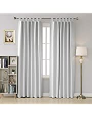Deconovo Thermal Insulated Tab Top Blackout Curtains 2 Panels