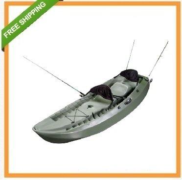 Tandem Fishing Kayaks - Lifetime Sport Fisher Single or Tandem Kayak, 10 Feet, Olive Green