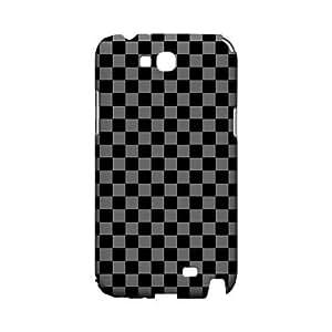 Gray/ Black - Geeks Designer Line Checker Series Hard Case for Samsung Galaxy Note 2