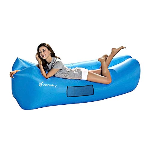 Vansky Inflatable Lounger, Air Sofa Hammock for Outdoor, Indoor, Camping, Beach, Backyard, Picnics, Music Festivals ()