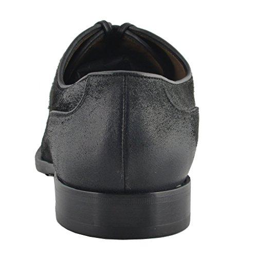 Dolce & Gabbana Heren Zwart Leren Oxfords Veterschoenen Zwart