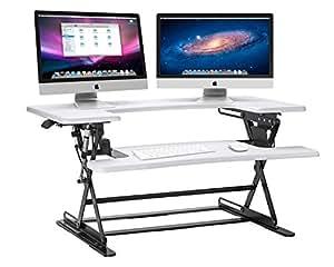 Halter ED-600 Preassembled Height Adjustable Desk Sit/Stand Elevating Desktop - White