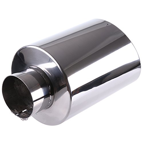 SCITOO 15 inch Long Exhaust Tailpipe Tip Universal Stainless Steel Diesel Exhaust Tip for Truck Cars
