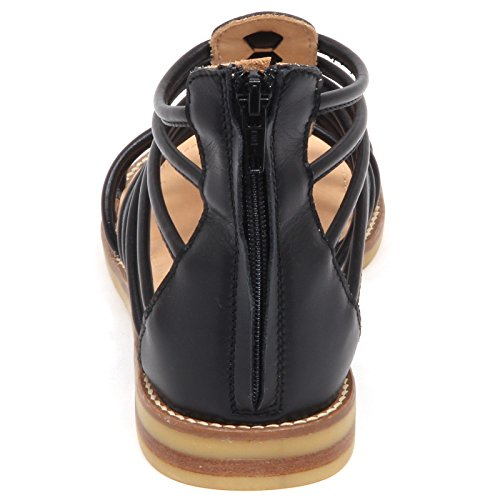 Shoe Sandalo Girl Kid Bimba Scarpe Black Momino E6638 Nero Sandal xYC54qWZw