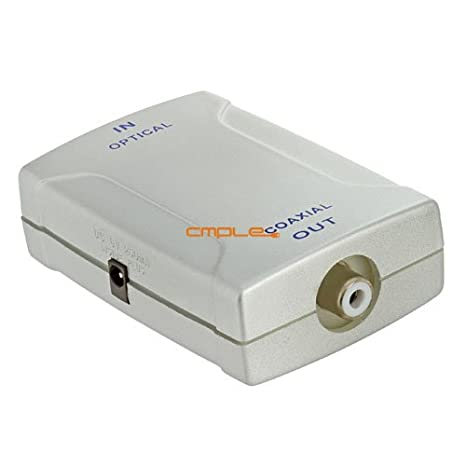 Cmple - Optical Toslink Jack (Input) to Coaxial RCA Jack(Output) Digital