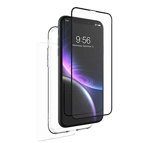 ZAGG InvisibleShield Glass+ 360 - Front + Back Screen Protection with Side Bumpers Made for Apple iPhone XR - Black, Clear by ZAGG (Image #6)