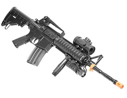 A&N Double Eagle M83 M83A2 M4 Airsoft Electric CQB AEG Gun Tactical Rifle Fully/Semi Automatic w/Accessories (Double Eagle Scope)