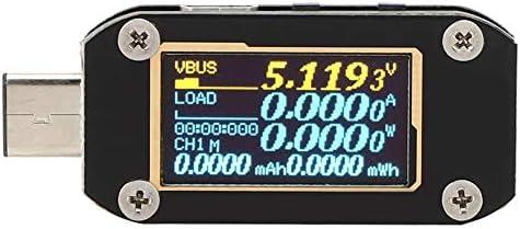 Multifunction Black Glass Fiber USB Testing Instrument, Portable USB Tester, for Port Voltage