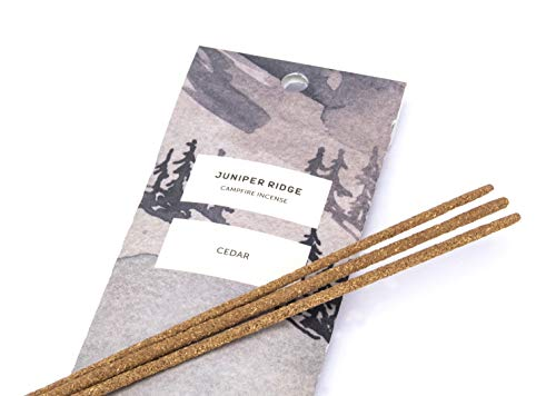 Juniper Ridge | Aromatic Cedar Incense | All Bamboo Sticks | Long Lasting | No Synthetic Fragrance | All Natural Ingredients | 20 -