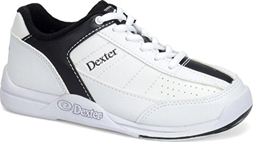 Dexter Kid's Ricky III Bowling Shoes, White/Black, (Iii Bowling Shoes)