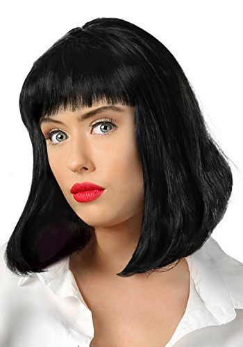 Pulp Fiction Mia Wallace Costume (Adult Pulp Fiction Mia Wallace Wig Standard)