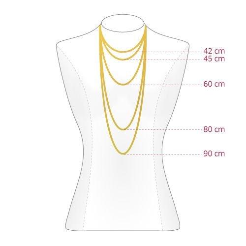 So Chic Bijoux © Chaîne Collier Longueur 50 cm Maille Forçat Rond 1,84 mm Or Jaune 750/000 (18 carats)