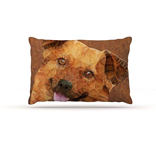 Kess InHouse Ancello Cute Koala  Fleece Dog Bed, 50 by 60 , orange Pink