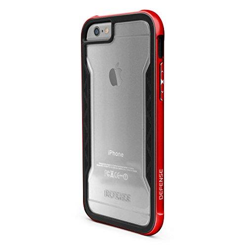 X-Doria Defense Shield Robuste Clip-On Schutzhülle Case Cover mit Aluminium für iPhone 6/6s - Rot