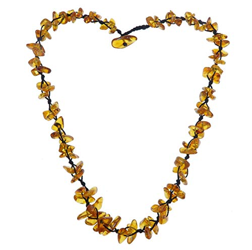 Amber Necklace Boutique Clear Honey Orange Triple Knotted Baltic Gemstone Healing B05 ()