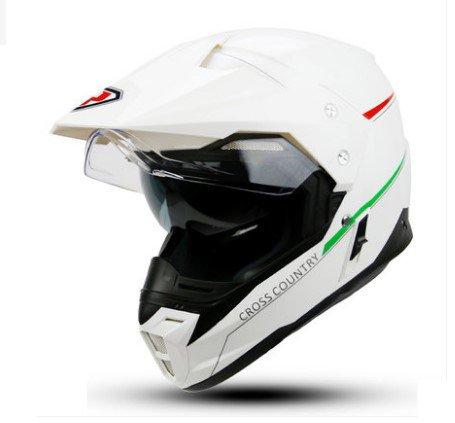 TTC オフロ-ドヘルメット 7カラー選択可能 バイクヘルメット YH-628 ダブルシールド バイク用品 男女兼用 かっこいい ホワイト (L) B074C9TK8S   L