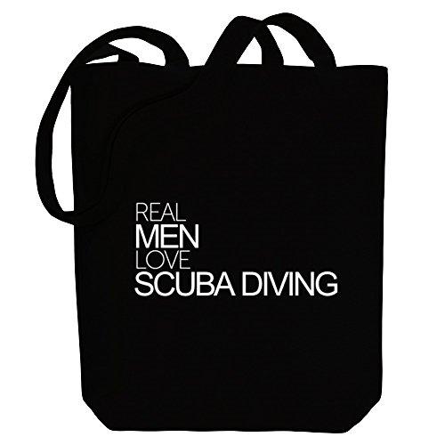 love Real Diving Sports Scuba Idakoos men Tote Bag Canvas vxEnxUq